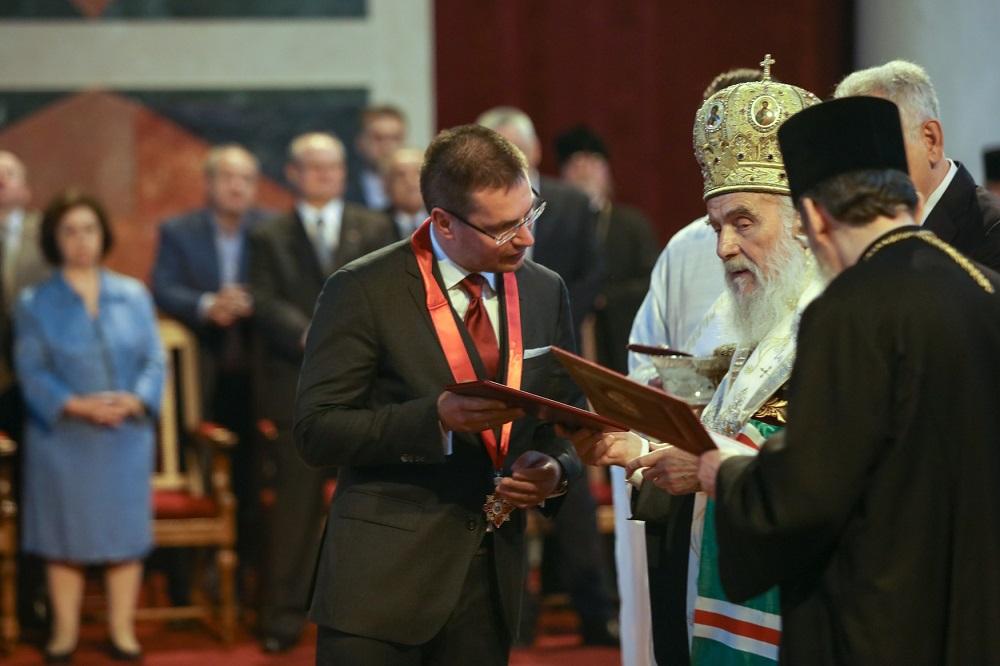 Кирил Кравченко и патријарх Иринеј.