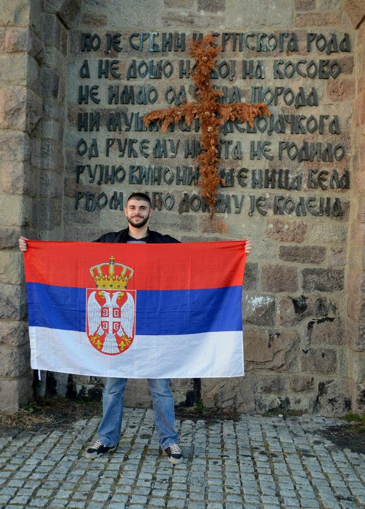 Млади Србин на Газиместану. Илустрација:  Алина Јаблочкина