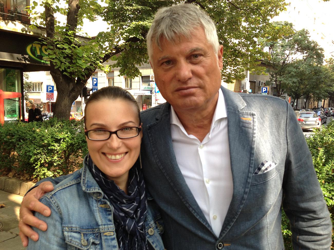 Мирослав Лазански и Катарина Лане / Фото: К. Лане