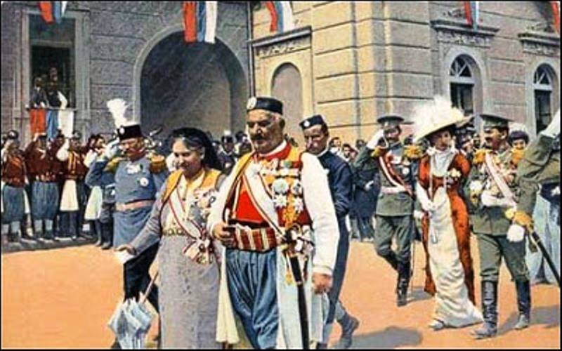 Проглашење Црне Горе за краљевину. Цетиње 1910. Извор: архивска фотографија