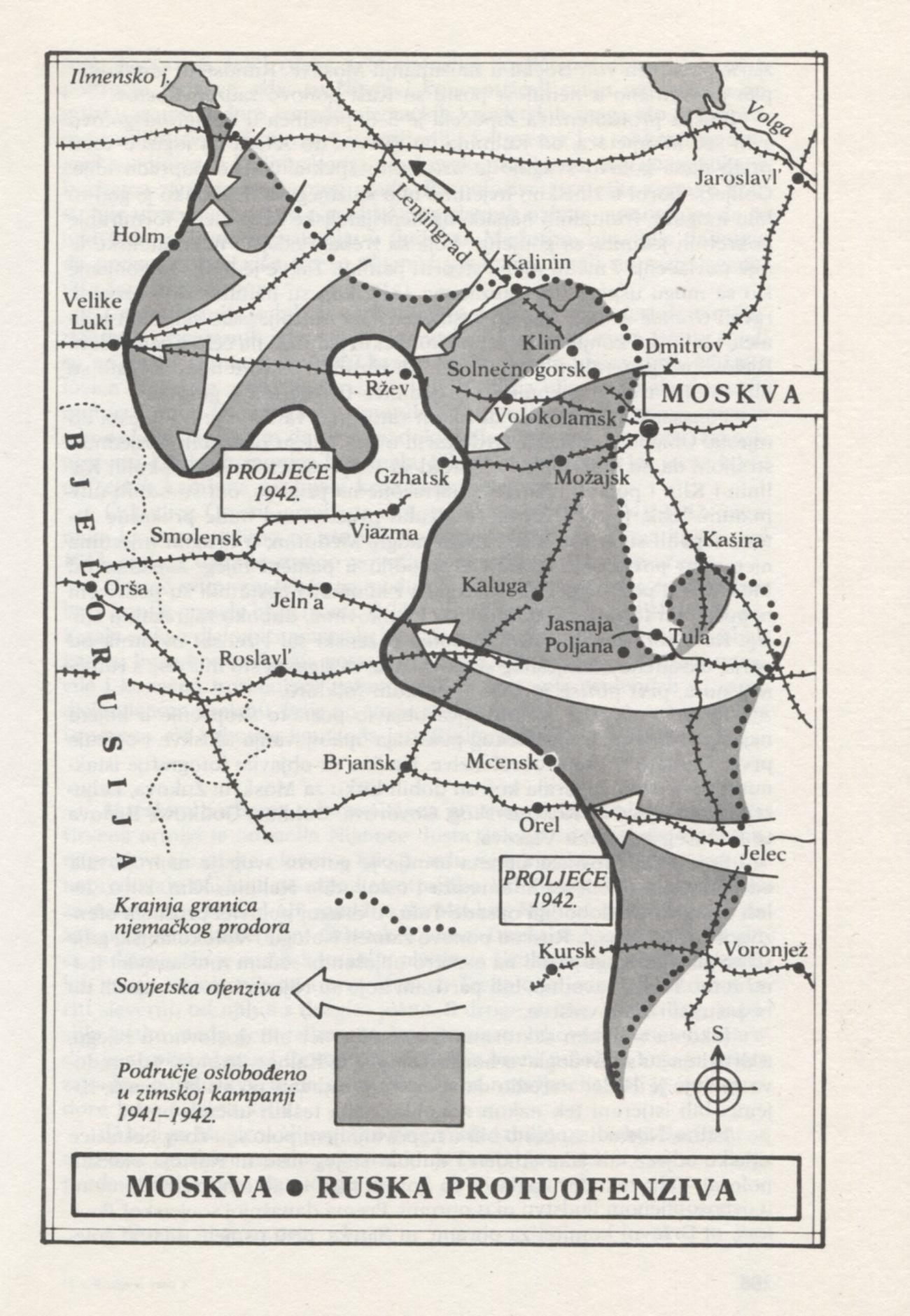 Ruska protiofenziva 5. decembra 1941. Vir: Alexander Werth, Rusija u ratu 1941-1945