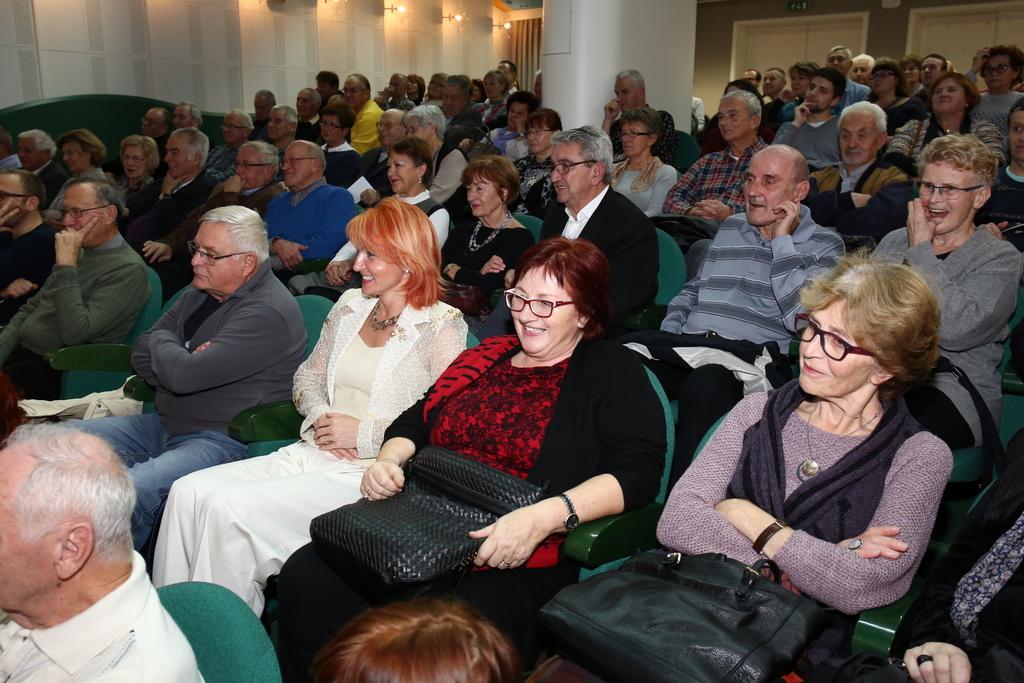 Dogodek je dodobra napolnil dvorano Krke v Ljubljani. Vir: Društvo Slovenija-Rusija