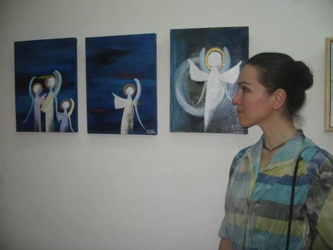 »Glavni pogoj za umetniško ustvarjanje je dovzetnost za subtilne stvari.« Vir: Olga Zupan, osebni arhiv.