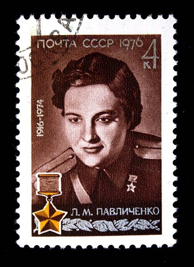 Ljudmila Pavličenko. Vir: wikipedia.org (CC0)