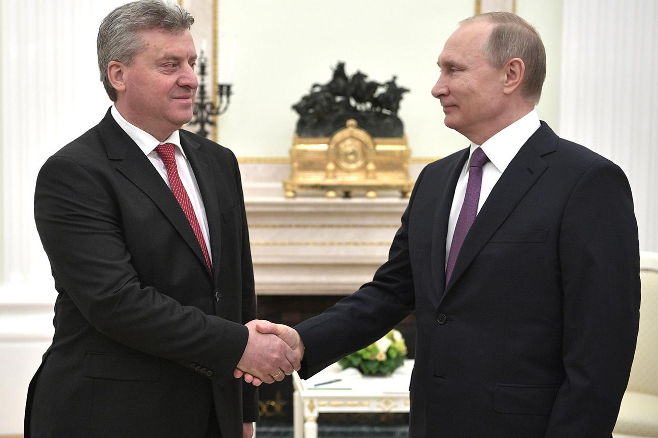 Gjorgje Ivanov in Vladimir Putin.