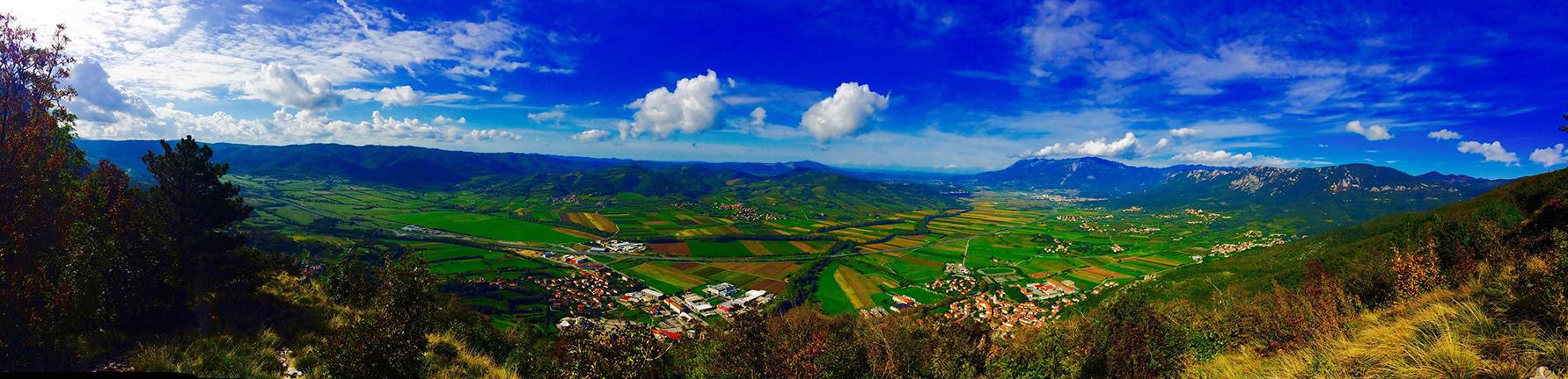 Vipavska dolina. Vir: Špela Bizjak