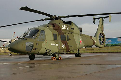 A Kamov Ka-60 Kasatka helicopter.