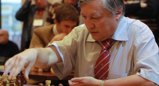Šahovski mojster Anatolij Karpov. Vir: Mihail Fomičev, RIA Novosti.