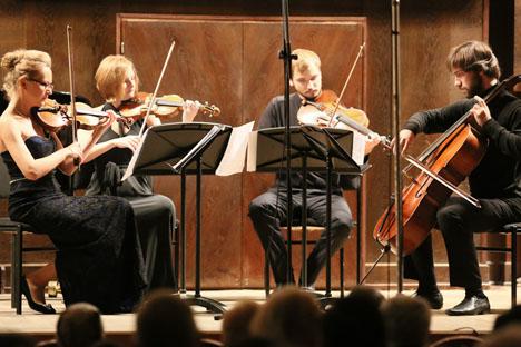 Das Staatliche Moskauer Tschaikowski-Konservatorium, eine namhafte Moskauer Hochschule für Musik, bietet eine vielfältige Auswahl an Konzerten. Meist wirken in diesen Konzerten junge russische Musiker mit. Foto: D.Rylov / mosconv.ru