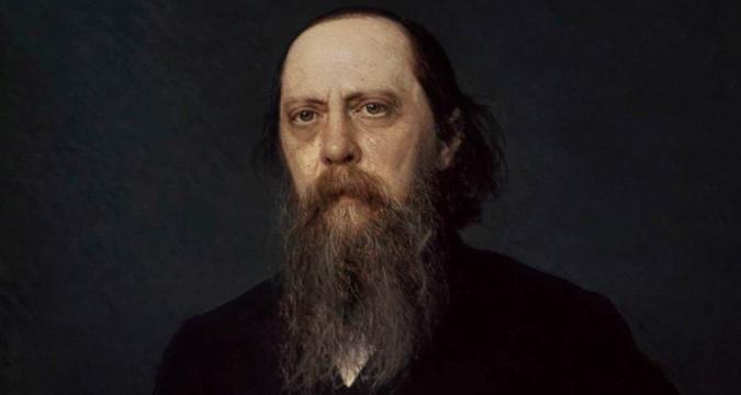 クラムスコイ画、 サルトィコフ=シチェドリンの肖像=